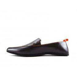 santoni chaussures d'intérieur chaussinoCHAUSSINO - CUIR - MARRON