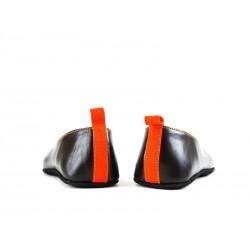 santoni nouveautés chaussures d'intérieur chaussinoCHAUSSINO - CUIR - MARRON