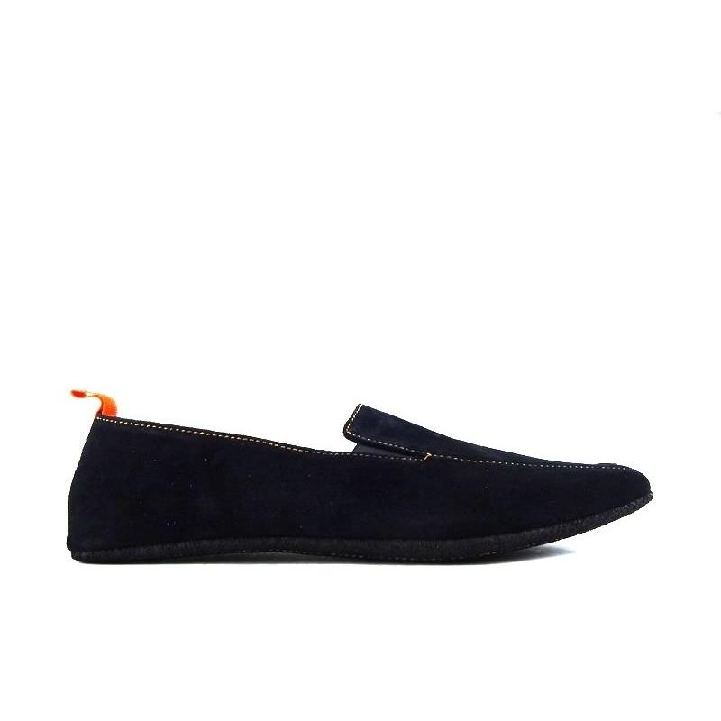 santoni nouveautés chaussures d'intérieur chaussinoCHAUSSINO - NUBUCK - NOIR