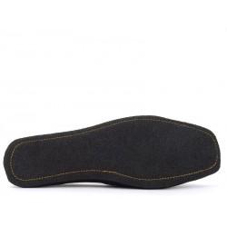 santoni chaussures d'intérieur chaussinoCHAUSSINO - NUBUCK - NOIR