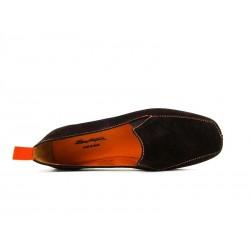 santoni nouveautés chaussures d'intérieur chaussinoCHAUSSINO - NUBUCK - MARRON (2)