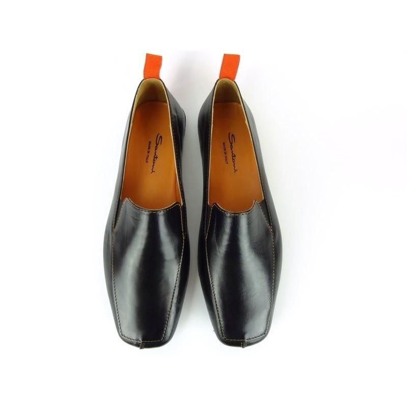 santoni nouveautés chaussures d'intérieur chaussinoCHAUSSINO - CUIR - NOIR