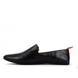 santoni chaussures d'intérieur chaussinoCHAUSSINO - CUIR - NOIR