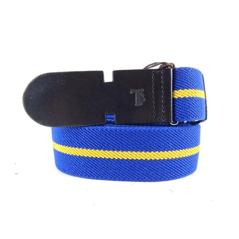 tod's ceintures ceinture todsCEINTURE TODS - TOILE - BLEU ET