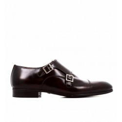 santoni nouveautés chaussures à boucles Double-Boucle SimonSIBOUCLE - ROYAL CALF - BURGUNDY