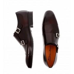 santoni nouveautés chaussures à boucles siboucleSIBOUCLE - ROYAL CALF - BURGUNDY