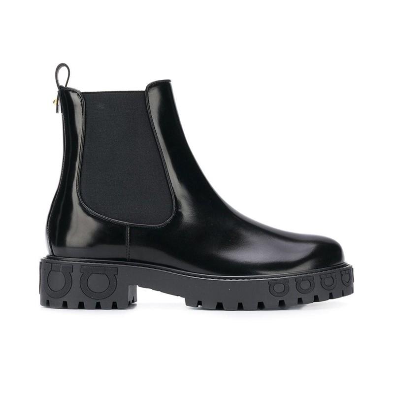 salvatore ferragamo promotions bottines sf boots commandoSF BOOTS COMMANDO - CUIR GLACÉ -
