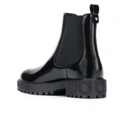 salvatore ferragamo bottines sf boots commandoSF BOOTS COMMANDO - CUIR GLACÉ -