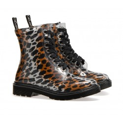 sergio rossi bottines Bottines JellySR WINTER JELLY - PVC - LEOPARD