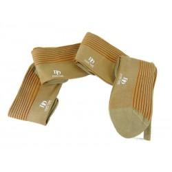 doré doré chaussettes mollet Chaussettes bicoloreDD CÔTE RAYÉE - CÔTON - JAUNE ET