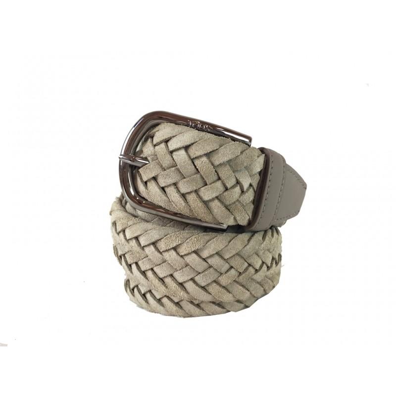 tod's ceintures ceinture tods tresseCEINTURE TODS TRESSE - NUBUCK TR
