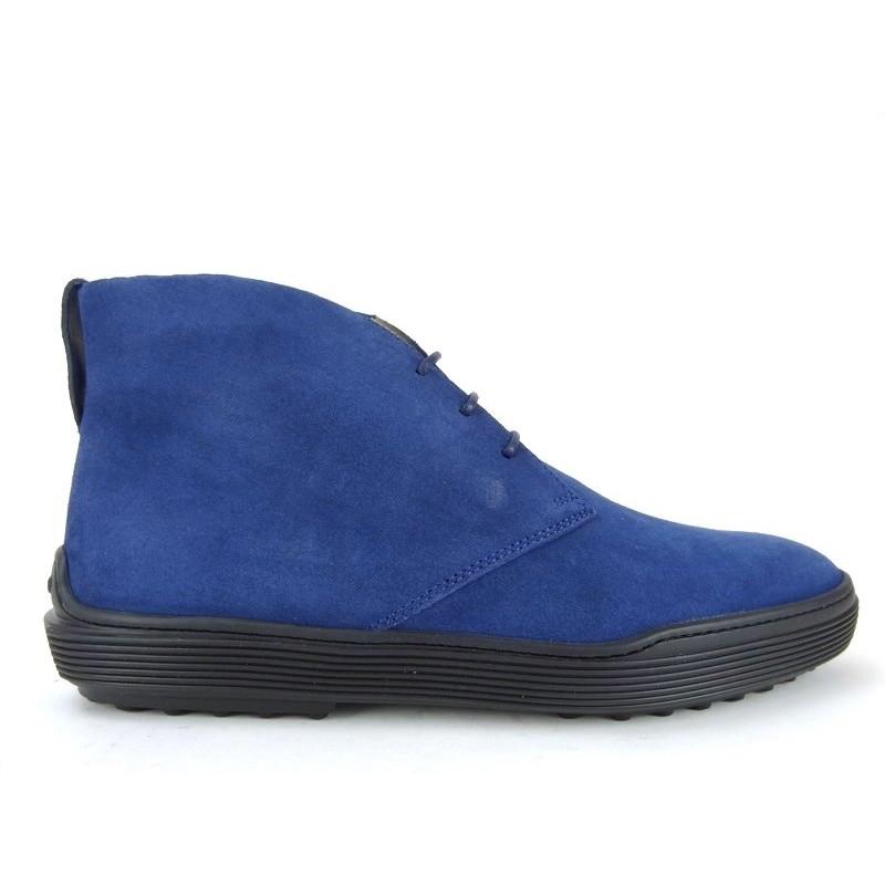 tod's promotions boots et bottillons peter 3PETER 3 - NUBUCK - BLEU