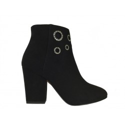 sonia rykiel promotions bottines ry boots strassRY BOOTS STRASS - NUBUCK - NOIR