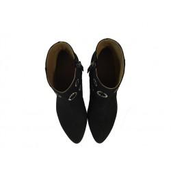 sonia rykiel bottines ry boots strassRY BOOTS STRASS - NUBUCK - NOIR