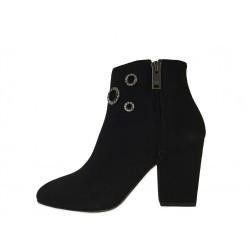 sonia rykiel promotions bottines ry boots strassRY BOOTS STRASS - NUBUCK - NOIR