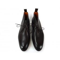 santoni promotions boots et bottillons warmWARM - CUIR GRAINÉ - CHOCOLAT