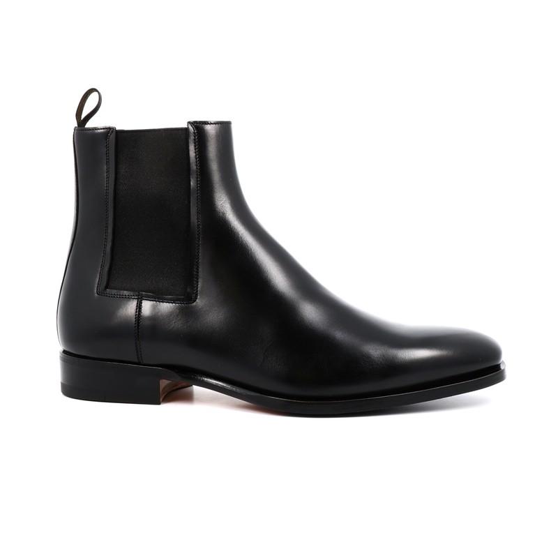 santoni promotions boots et bottillons levorLEVOR - CUIR - NOIR