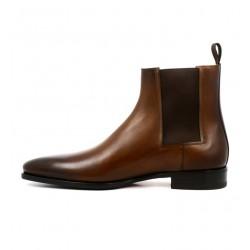 santoni promotions boots et bottillons levorLEVOR - CUIR PATINÉ - GOLD