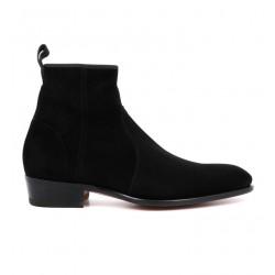 santoni promotions boots et bottillons carchoCARCHO - NUBUCK STRETCH - NOIR