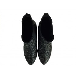 hogan bottines exa 3EXA 3 - CUIR ET PAILLETTES - OR