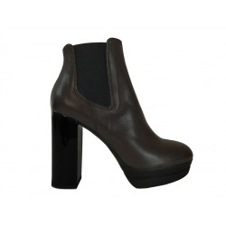 hogan bottines optima 2OPTIMA 2 - CUIR - MARRON