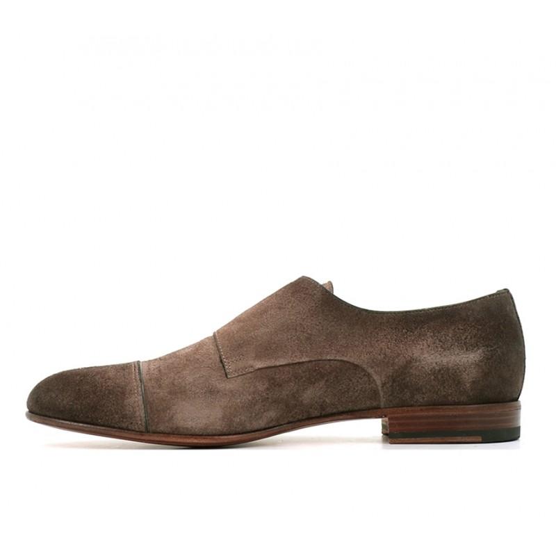 santoni promotions chaussures à boucles kenboKENBO - NUBUCK - TAUPE
