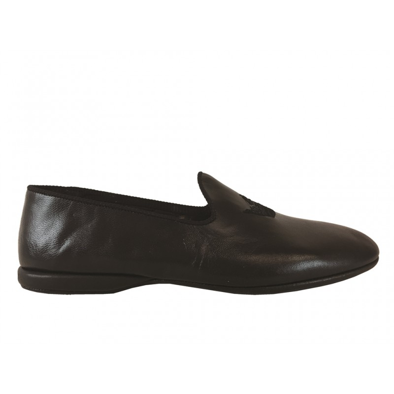 church's chaussures d'intérieur tritonTRITON - CUIR ET BRODERIE - NOIR