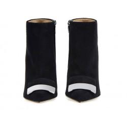 sergio rossi bottines Bottines SR à talon 100 mmSR BOOTS SR T10 - NUBUCK - NOIR