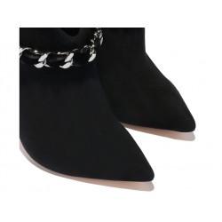 Casadei promotions bottines casa boots noeud t10CASA BOOTS NOEUD T10 - NUBUCK ET