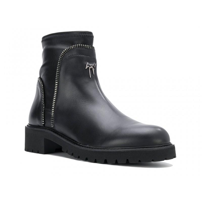 giuseppe zanotti promotions boots et bottillons gz h boots zipGZ H BOOTS ZIP - CUIR - NOIR