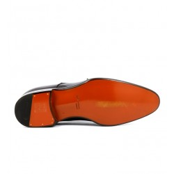santoni promotions chaussures à boucles cartyCARTY - CUIR PATINÉ - CHOCOLAT
