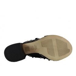 stuart weitzman promotions sandales sw studyhallSW STUDYHALL - CUIR CLOUTÉ - NOI