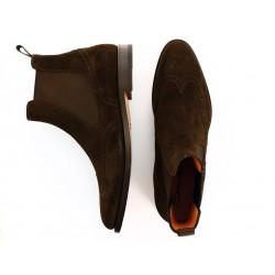 santoni promotions boots et bottillons wilbootsWILBOOTS - NUBUCK - CHOCOLAT