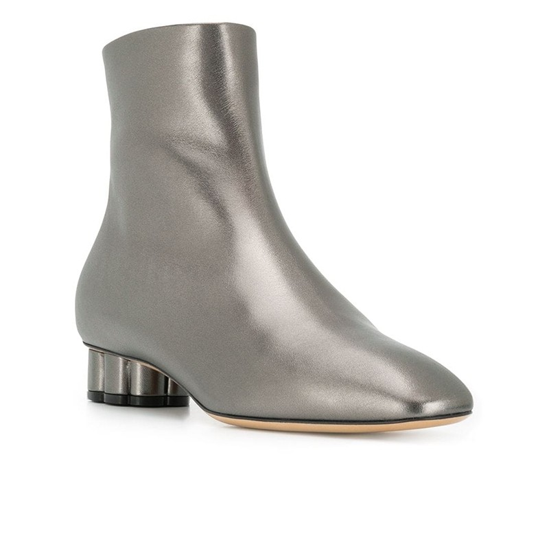 salvatore ferragamo promotions bottines sf boots t3SF BOOTS T3 - CUIR IRISÉ - PLOMB