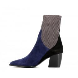pierre hardy bottines Boots Rodeo talon 70mmPHF BOOTS RODEO T7 - NUBUCK - BL