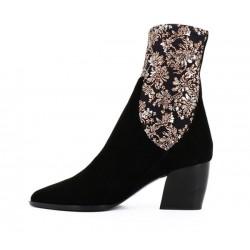 pierre hardy bottines Boots Rodeo talon 70mmPHF BOOTS RODEO T7 - NUBUCK ET T
