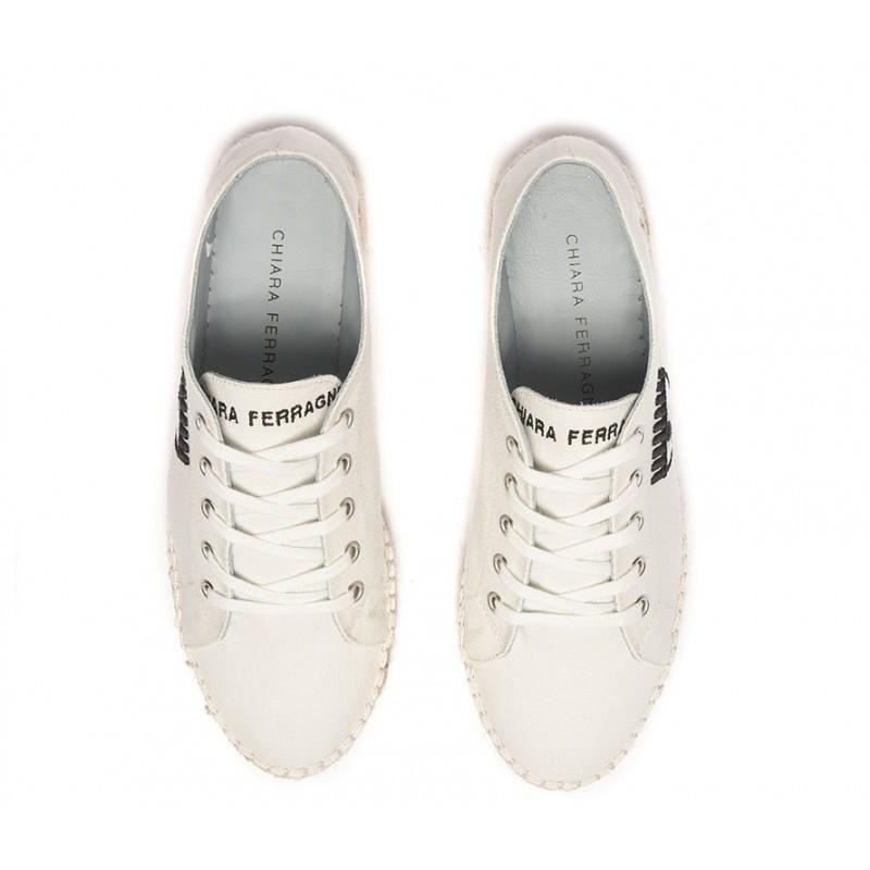 chiara ferragni sneakers cf espa 1CF ESPA 1 - TOILE - BLANC