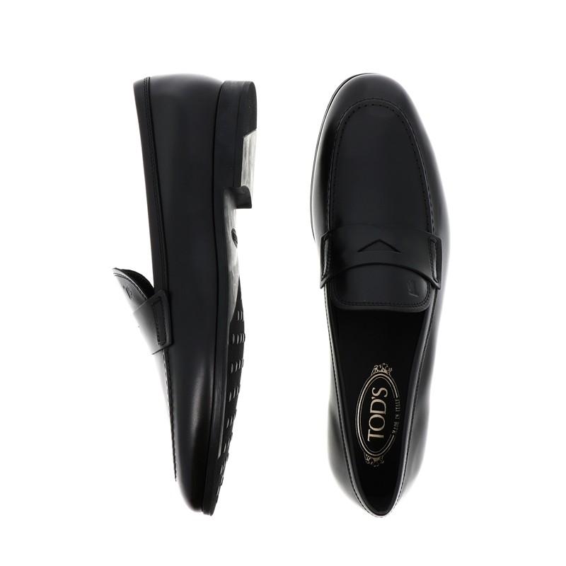 tod's mocassins et slippers pemogPEMOG - CUIR - NOIR