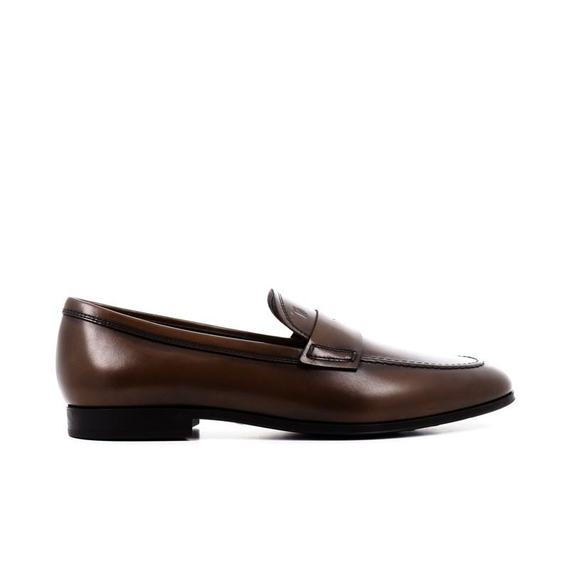 tod's mocassins et slippers pemogPEMOG - CUIR PATINÉ - MARRON