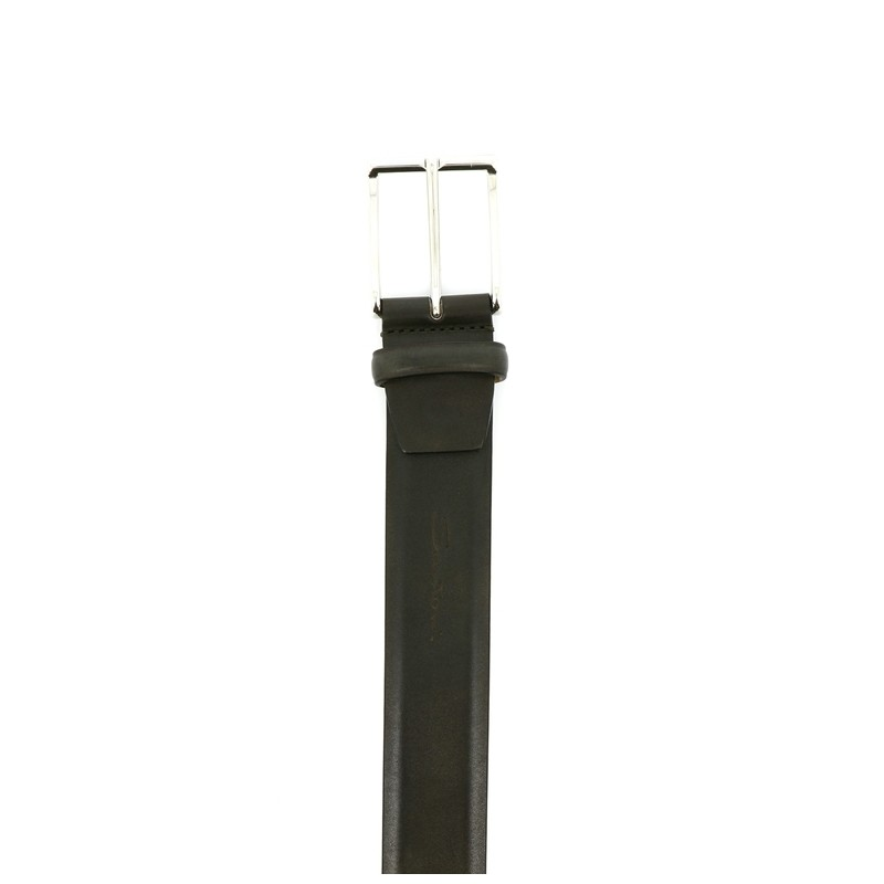 santoni nouveautés ceintures Ceinture RéglableCEINTURI ONE - CUIR - KAKI