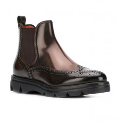 santoni promotions bottines BootsURBANA GOLD - CUIR PATINÉ - TAUP