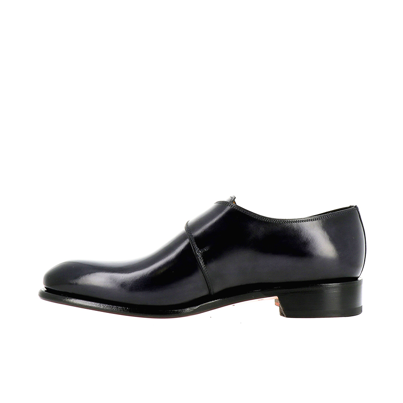 santoni chaussures à boucles carmonkCARMONK - CUIR - BLEU MARINE