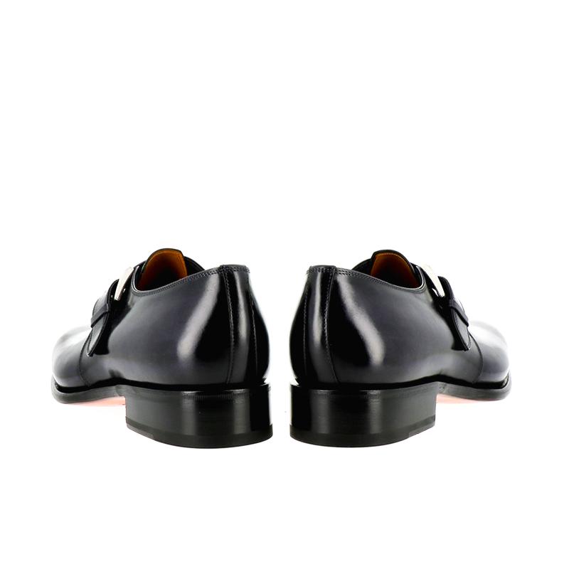 santoni nouveautés chaussures à boucles carmonkCARMONK - CUIR - BLEU MARINE