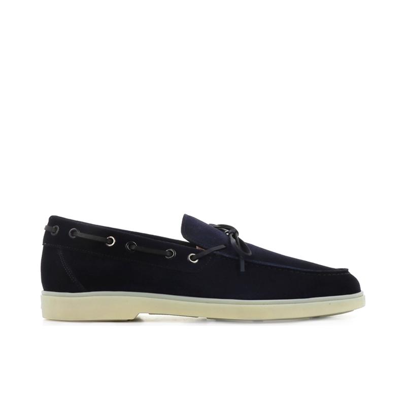 santoni chaussures bateau yaltaYALTA - NUBUCK - MARINE