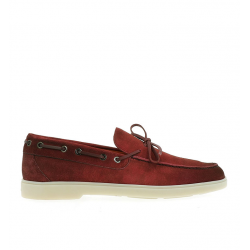 santoni chaussures bateau yaltaYALTA - NUBUCK - ROUGE VIEILLI