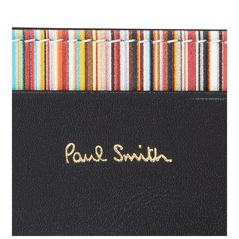 paul smith promotions porte-cartes ps porte-cartesPS PORTE-CARTES - CUIR - NOIR ET