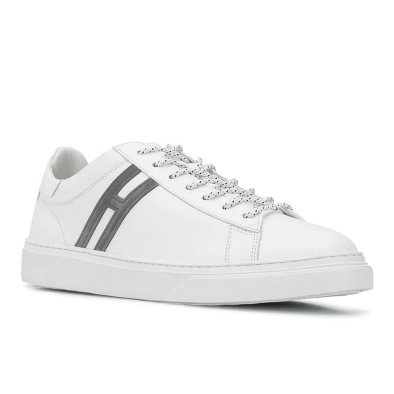 hogan nouveautés sneakers Sneakers H365HH H365 - CUIR - BLANC ET LOGO G
