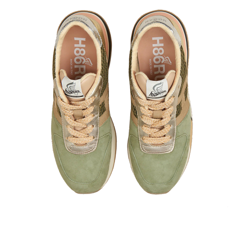 hogan nouveautés sneakers Sneakers H383HF BASKET H383 - NUBUCK, TOILE E