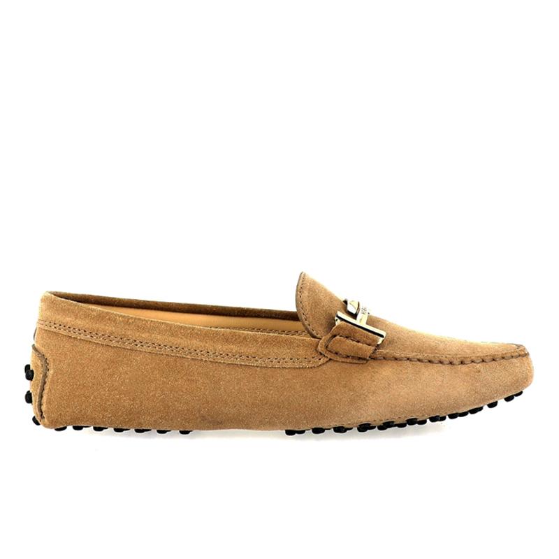 tod's mocassins & slippers Mocassins Gommino Double TTODTIE - NUBUCK - BEIGE ET DOUBL