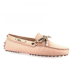 tod's mocassins & slippers Mocassins Gommino à lacetsLASSIE 3 - CUIR GRAINÉ - ROSE ET